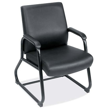 big and tall collection 400 pound weight capacity guest chairs with padded arms and heavy duty base