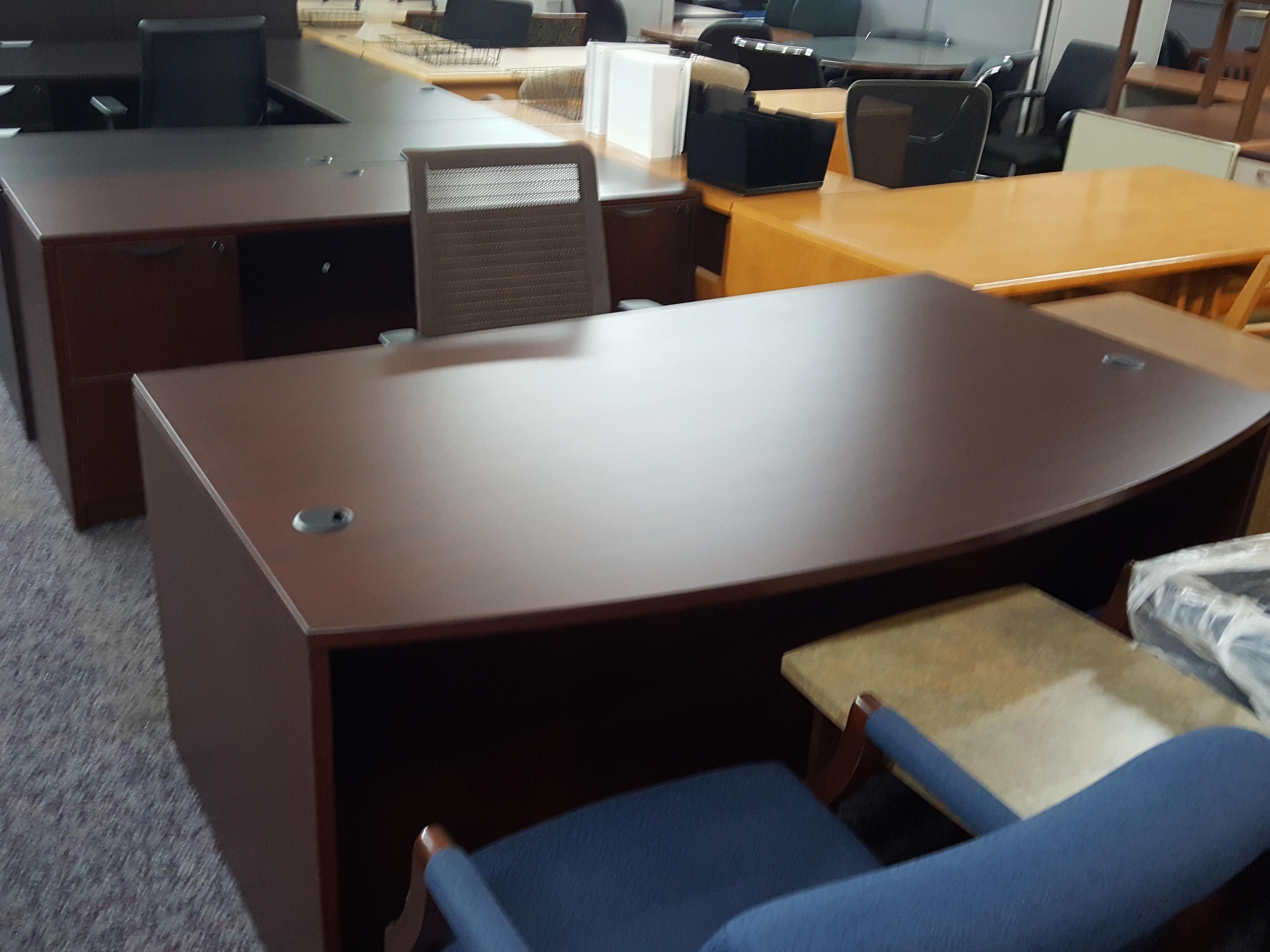 Global Desk And Credenza Set