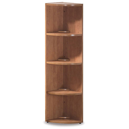 """os laminate collection 66"""" height corner bookcase"""