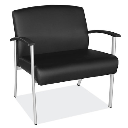 big and tall collection 500 pounds weight capacity guest chairs with heavy duty metal frame