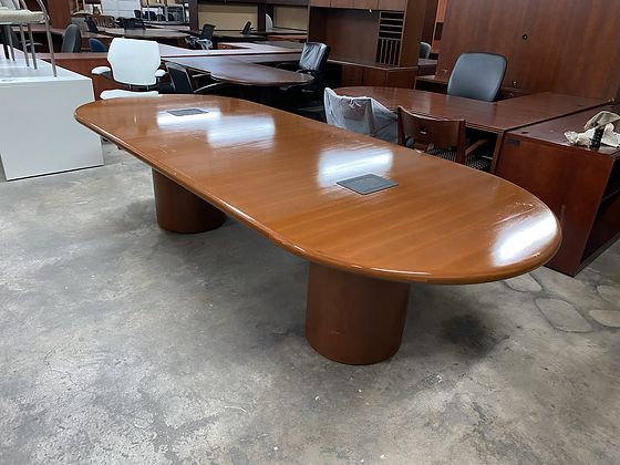 Nucraft racetrack shaped conference table