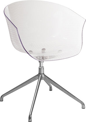 clear crylic contemporary reception guest chair mid century modern