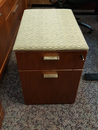 knoll reff profiles box file mobile cabinets with lock with cushion top wood in walnut finish