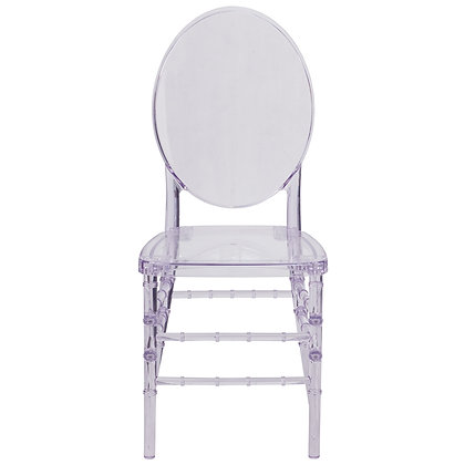 elegant crystal ice stacking guest chairs