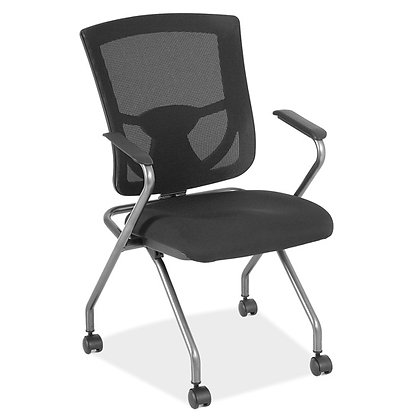 cool mesh pro collection mesh back nesting chairs black