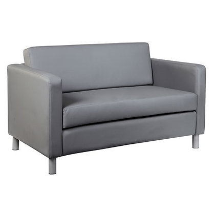 define collection reception seating gray loveseat