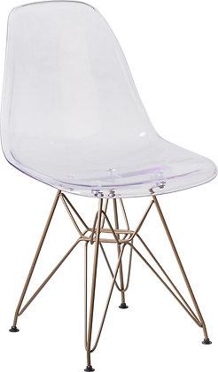 elon series ghost chairs with metal legs mid century modern