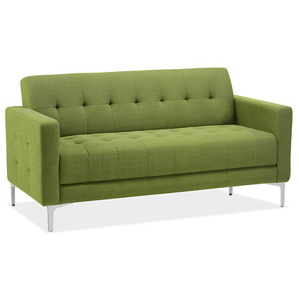draper collection retro sofa available in green, taupe and black color