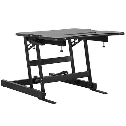 """hercules series 22"""" wide sit to stand desk in black finish"""