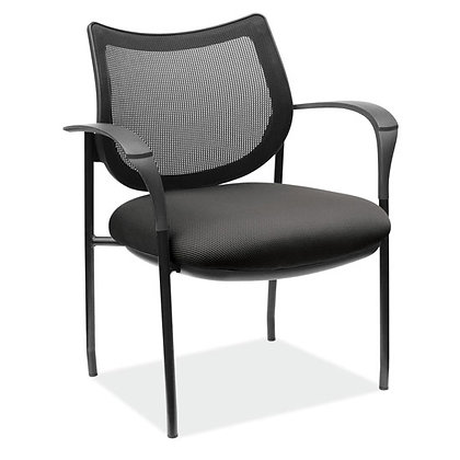 carson collection mesh back stack chairs