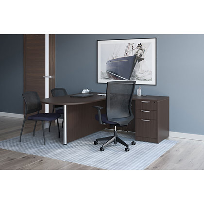 os laminate collection bullet L shaped desk right side in espresso finish typical os 151