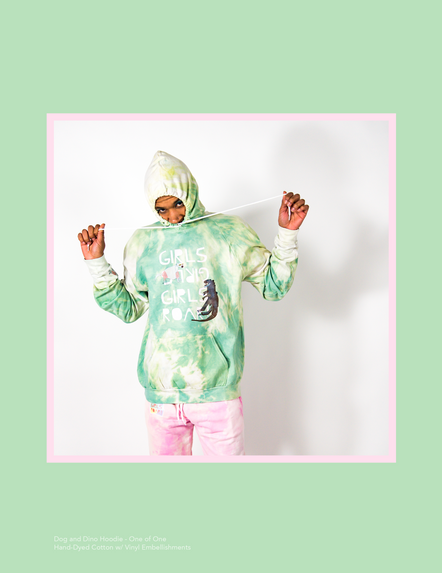 Dog and Dino Hoodie - One of One