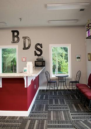 Burns Dance Studio Front desk