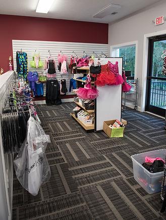 Burns Dance Studio Merchandise area