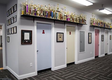 Burns Dance Studio dressing rooms