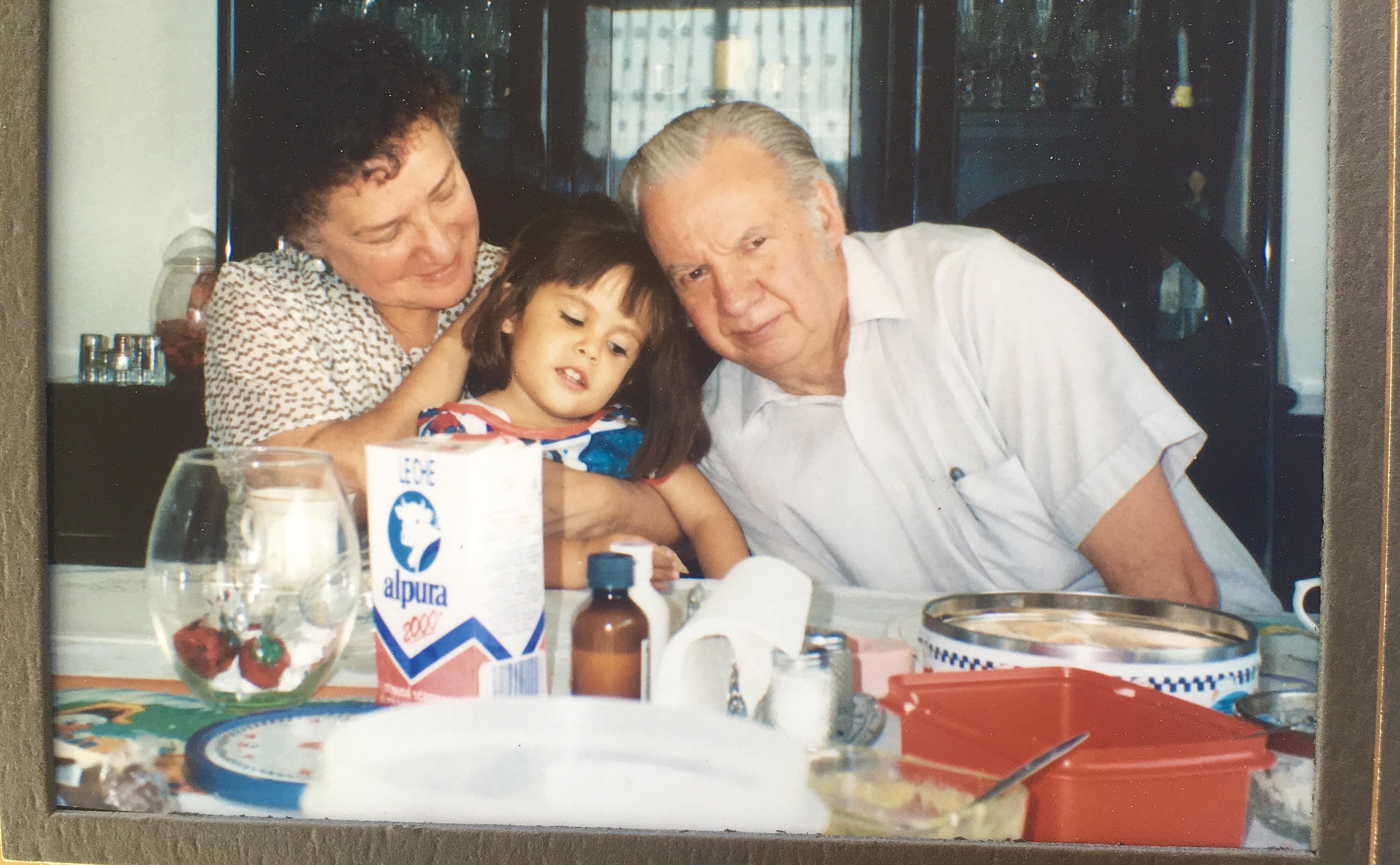Me and my grandparents, around 1991
