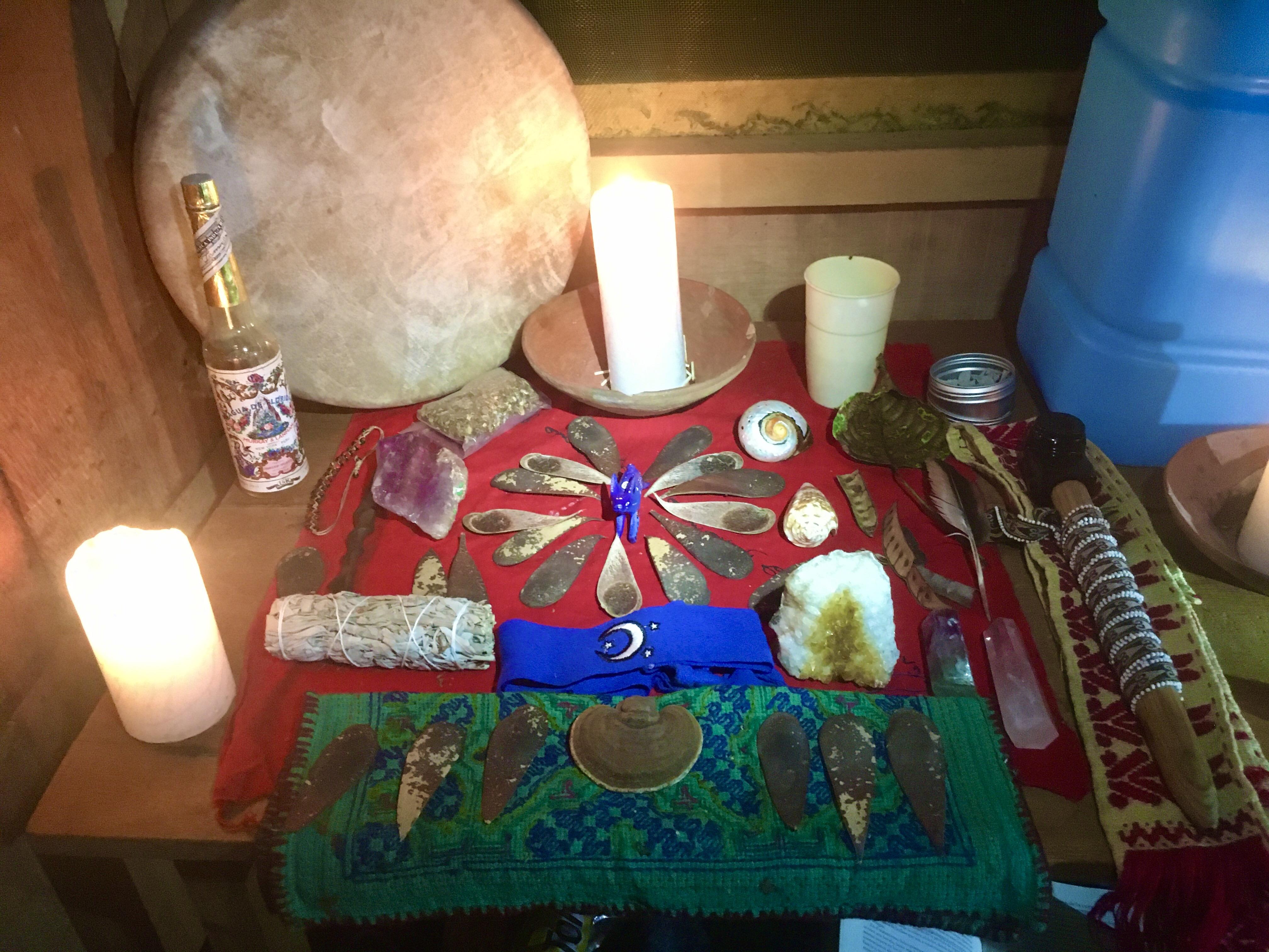 Moon circle altar