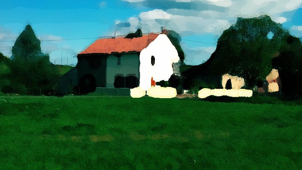 Dijon Farmhouse, Open Edition Giclee Print