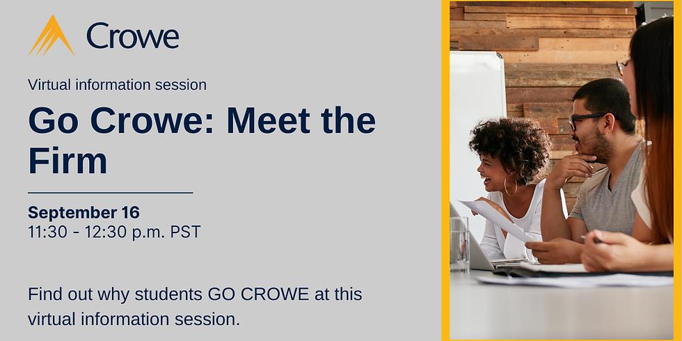 Go Crowe - Meet the Firm