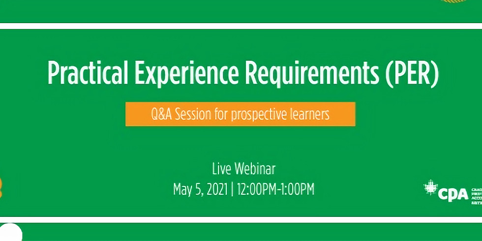 Practical Experience Requirements (PER) Q & A Session