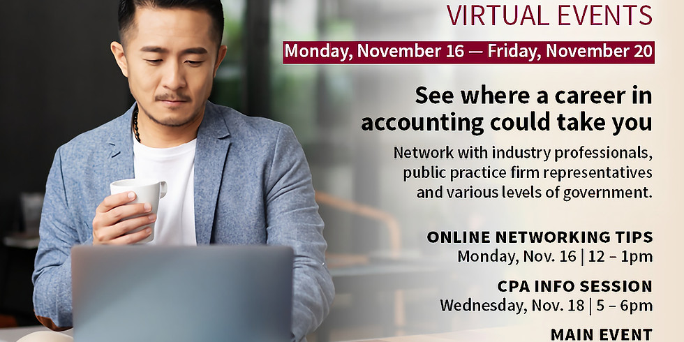 Event 3 (Main Event): Careers in Accounting