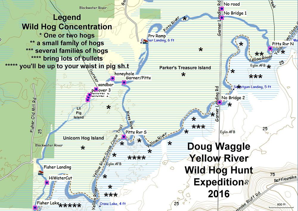 Yellow River Island Map