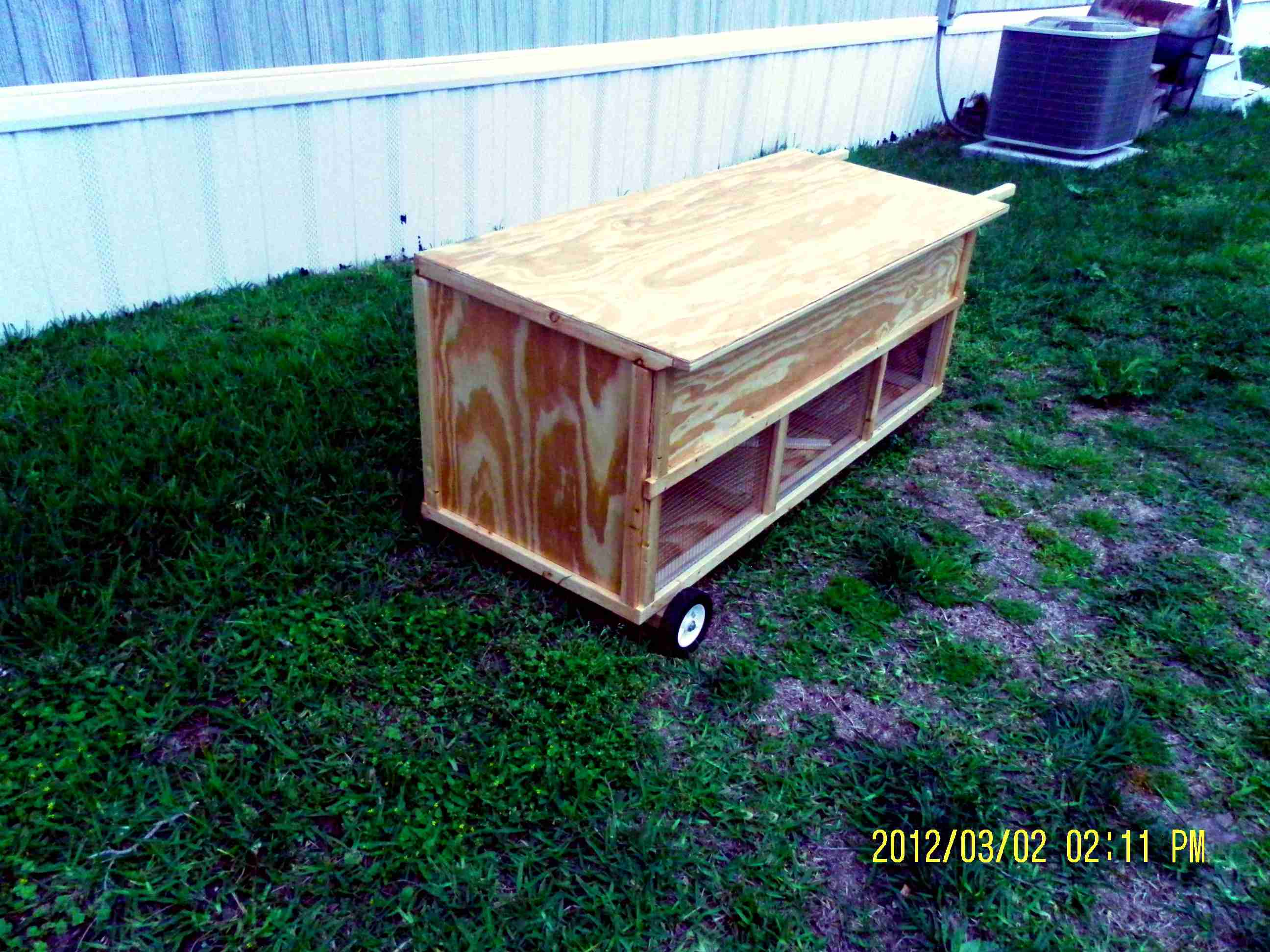 Moveable Rabbit Hutch - Multi Unit (3)