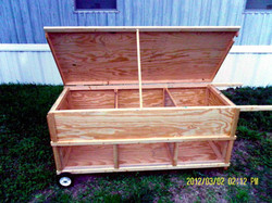 Moveable Rabbit Hutch - Multi Unit (8)