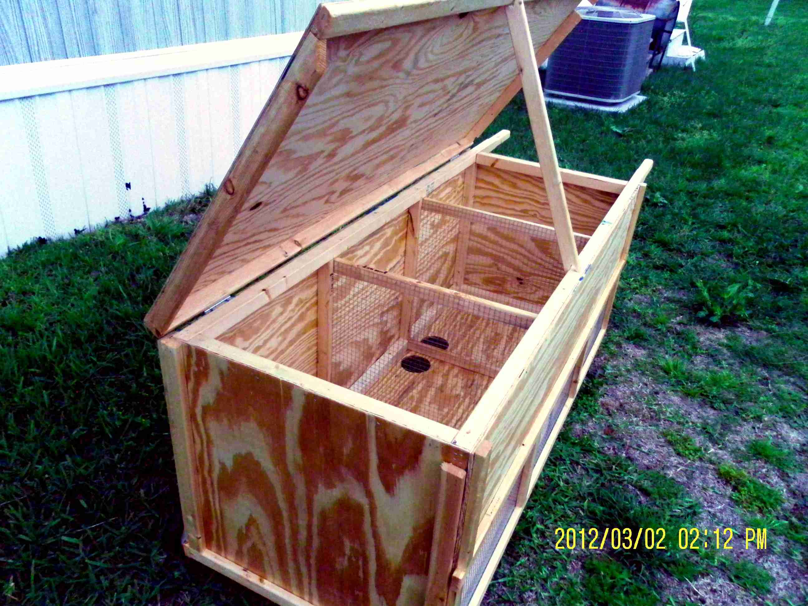 Moveable Rabbit Hutch - Multi Unit (10).
