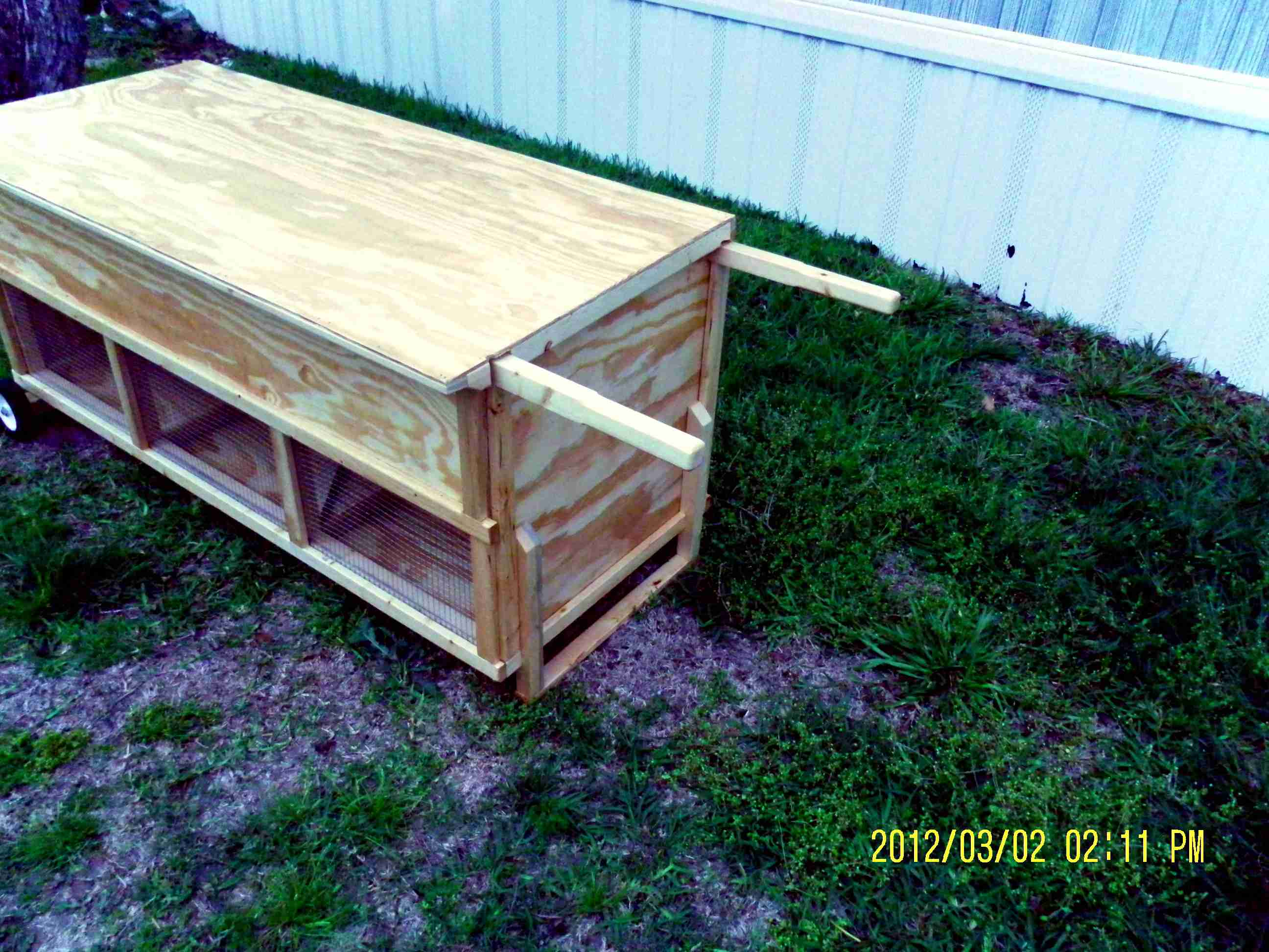 Moveable Rabbit Hutch - Multi Unit (7)