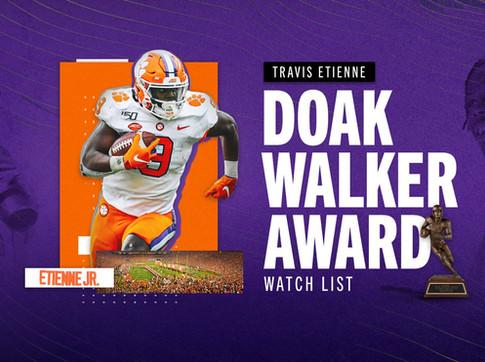 Etienne on 2020 Doak Walker Award Watch List