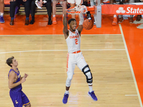 Reed Leads with 26 as Clemson Blitzes Lipscomb