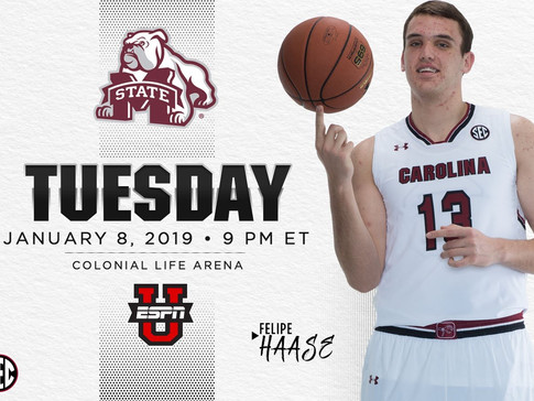 Gamecocks Host No. 14 Mississippi State On Tuesday