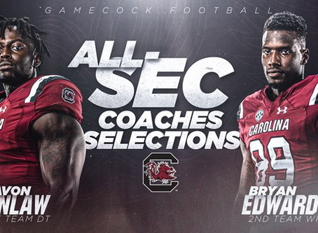 Kinlaw and Edwards Named to Coaches' All-SEC Team