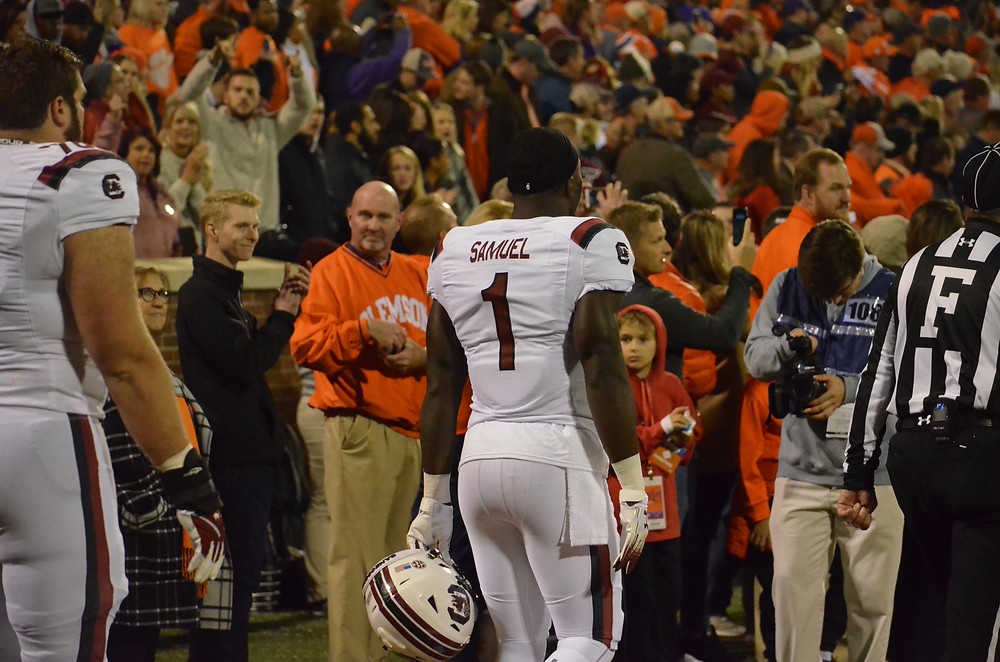 Deebo Samuel enters Death Valley // Pic by Austin Silvey