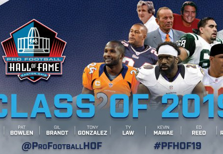 PRO FOOTBALL HALL OF FAME'S CLASS OF 2019