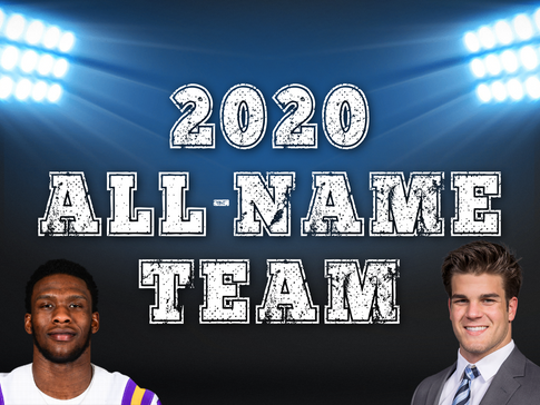 2020 COLLEGE FOOTBALL ALL-NAME TEAM