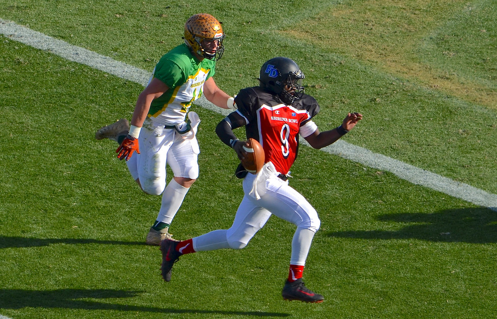 Dak Joyner rushing TD at 2017 Shrine Bowl
