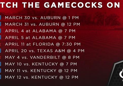 SEC Announces 2019 Baseball TV Schedule