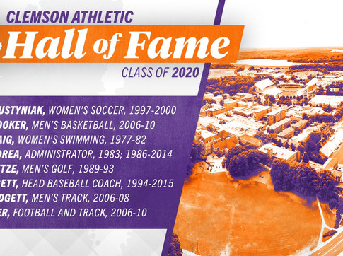 Clemson to Induct Eight in 2020 Hall of Fame Class