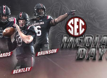 Bentley, Brunson and Edwards to Represent Carolina at SEC Media Days