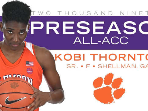 Thornton Named Preseason All-ACC; Tigers Picked Eighth