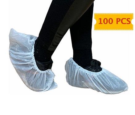 Pack de 100 Unidades de Cubrezapatos Desechables de Polietileno