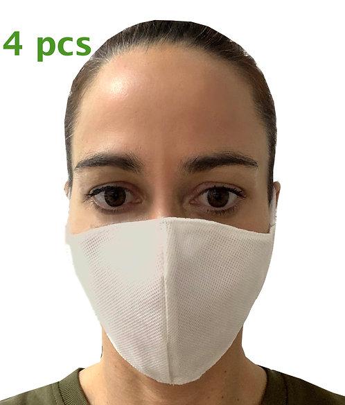 Pack de 4 Mascarillas de Protección contra las bacterias lavables y reu