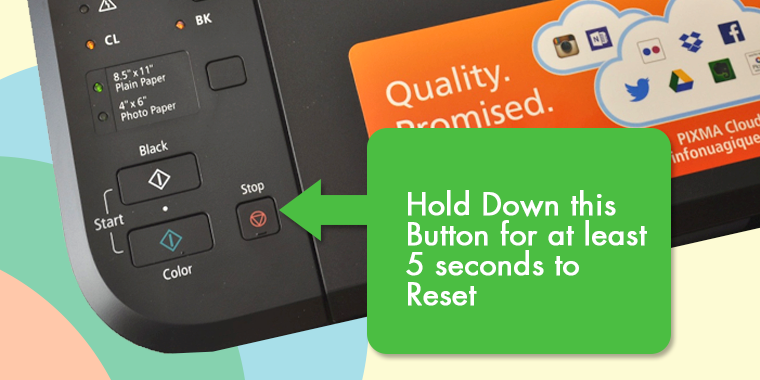 How To Reset Canon Printers