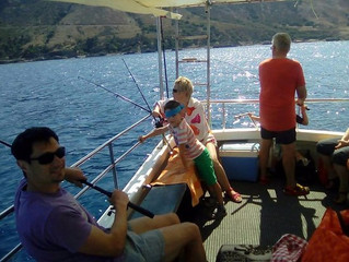 Family Fishing experiences in Sithonia...