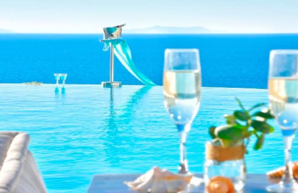 Infinity pool Helenika Travels Greece