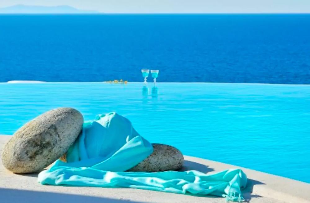 Aegean sea view in private villa Helenika Travels detox retreat