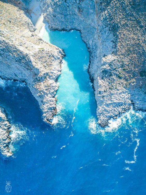 drone view birds eye view of greek island Helenika Travels