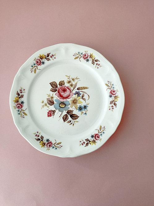 Assiettes fleuries (x 4) #1